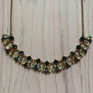 J Crew Iridescent jewel necklace